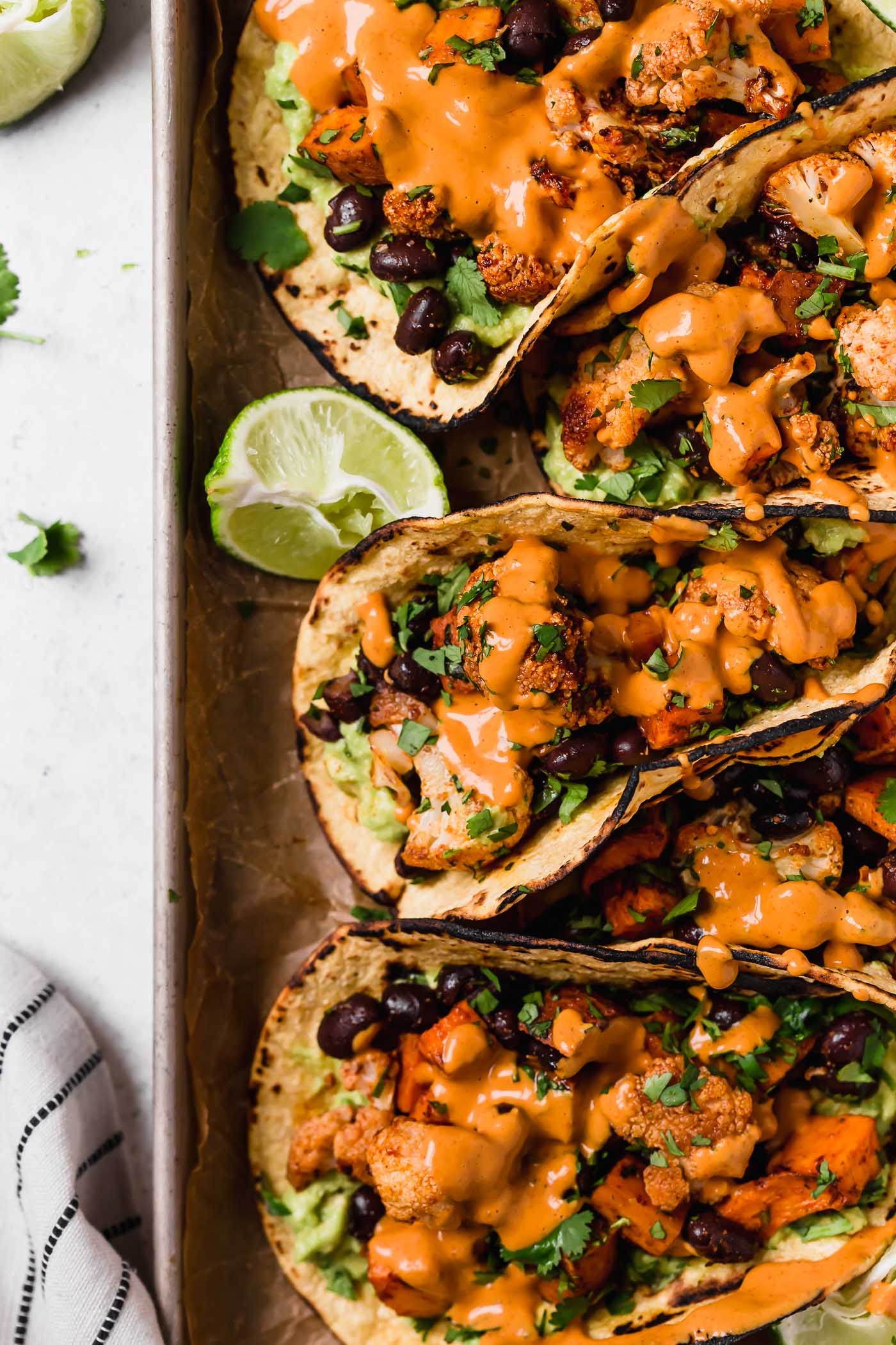 Easy Roasted Veggie Tacos