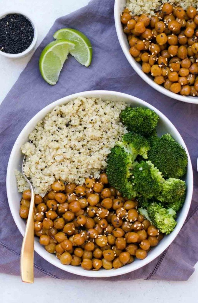 15 Minutes Sticky Sesame Chickpea